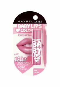 Maybelline New York Baby Lips Lip Balm, Pink Lolita, 4g