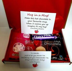 Hot chocolate letterbox gift set - Hug In A Mug Gift Mini Hamper - Friend