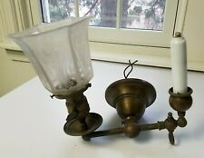 Antique Gas / Electric Light Fixture Sconce Old House Find