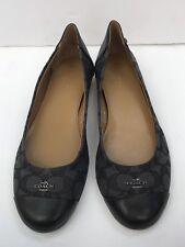 New Coach Size 9.5 Chelsea black Signature Slip On Ballet Flats Shoes
