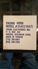 New Viking Weather Resistant Paging Horn 12 Watt, Model# 25Ae210 New In Box.