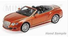 Bentley GT Speed Convertible orange met. 1:18 Minichamps