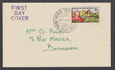 South Africa Sc 284, 2½c Disa Orchid single on National Nuclear Conference cover