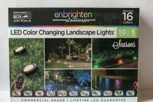 New Enbrighten 41012 Seasons LED Color Changing Landscape 6 Lights 50 ft. -Black