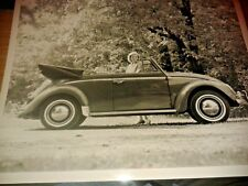 1960s Volkswagen VW Beetle Convertible Press Photograph