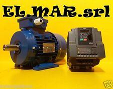 Motore Elettrico HP 2 Kw 1,5 + Inverter Monofase TECO L510 Giri Regolabili