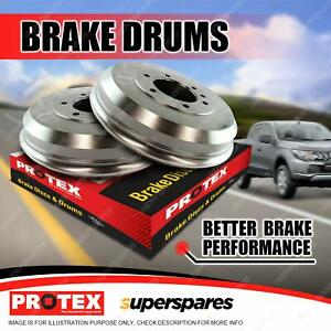 Pair Rear Protex Brake Drums for Isuzu D-Max TFR85 3.0L Turbo Diesel 11-on