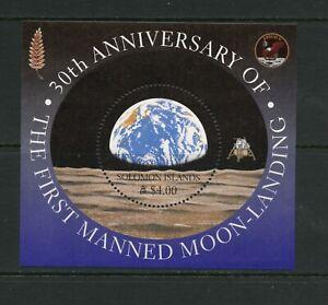 G006 Salomon Îles 1999 Espace Lune Atterrissage 30th Anniv. Feuille MNH