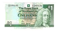 Vintage Banknote Scotland UNC 1987 1 Pound Pick 34b US Seller