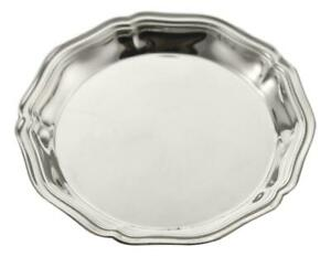 """CHRISTOFLE Silver Plate - CHINON Pattern - Butter Pats / Dishes - 3 1/2"""""""