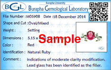 Check the lab certification gemstone jewelry