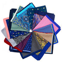 Large Multi Color 32CM Silk man Floral handkerchief  Pocket Square