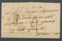 1845 Lettre cursive LEVENZO COMTE DE NICE RARE TB H2053