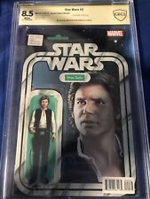 STAR WARS #2 CBCS SS 8.5 JTC CHRISTOPHER HAN SOLO ACTION FIGURE VARIANT