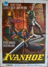 IVANHOE Italian 2F movie poster R72 39x55 ELIZABETH TAYLOR ROBERT FONTAINE