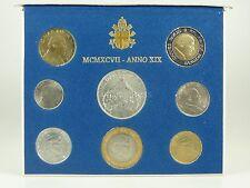 *** LIRE KMS VATIKAN 1997 BU Lira Coin Set Vaticano Münzen vor Euro ***
