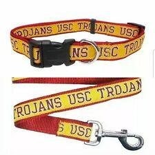 USC Trojans California Dog Collar with leash set  Medium New