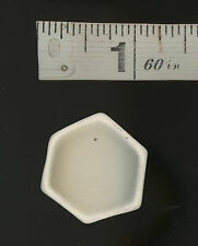 """Bowl Minature Collectible Dollhouse Egg Shell Color Octagon 1"""" wide 1/2"""" high"""
