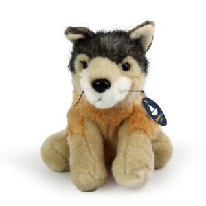Stofftier Wolf Welpe, Baby, Kuscheltier, Plüschtier, Plüsch (Höhe ca. 14 cm)