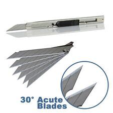 100 Pcs Carbon Steel Blade 9mm 30° Snap-Off Art Knife Replacement Blades SK7 USA