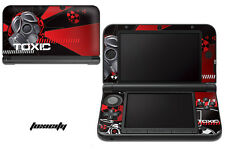 Skin Decal Wrap for Nintendo 3DS XL Gaming Handheld Sticker 12-15 TOXICITY RED