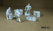 00/4MM 1:76 scale JOHN DAY WHITE METAL FIGURES,**NEW** COAL MEN SACKING UP SCENE