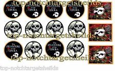 """PHANTOM OF THE OPERA PINBALL  """"DELUXE"""" TARGET ARMOUR CUSHIONED DECALS"""