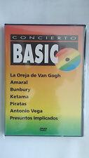 """DVD """"CONCIERTO BASICO"""" BUNBURY AMARAL LA OREJA DE VAN GOGH RARO RARE"""