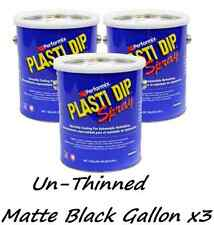 3 Gallons Matte Black UNTHINNED Performix Plasti Dip Concentrate FULL STRENGTH