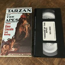 TARZAN OF THE APES (1918) VHS silent B&W classic cinema ELMO LINCOLN must have