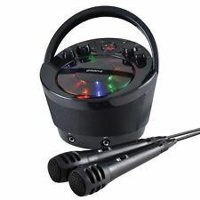 Portable Karaoke Boombox with CD Player and Bluetooth Playback- Black By Groov-e