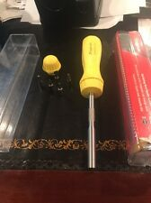 Brand New Snap On Yellow Ratcheting Screwdriver With 5 Bits And Factory Package