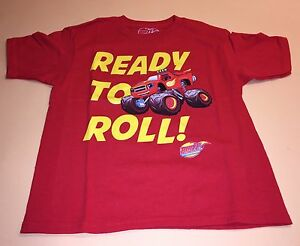 Blaze and the Monster Machines Toddler Boy Short Sleeve Shirt Top New 5T