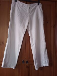 Fat Face white trousers size 14