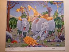 Ivica ASTALOS MAD-Originalzeichnung Falt-Seite Fold-in Faltblatt Afrika Knick-