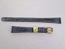 11mm lug size lady's grey genuine teju lizard watch band strap NOS Germany