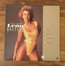 JANE FONDA'S LEAN ROUTINE 1992 - Laser Disc  - Free Shipping