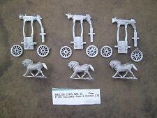 15mm Mini Figs  English Civil War II Galloper Guns & Horses ( 3 )