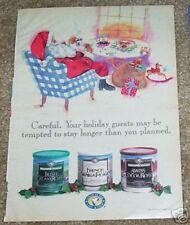 1995 ad page - Maxwell House Coffee - cute SANTA CLAUS art Kraft Foods PRINT AD