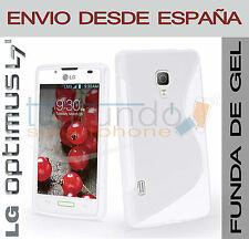 FUNDA GEL BLANCA para LG OPTIMUS L7 II 2 P710 en ESPAÑA CARCASA