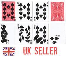CARD PRINTING close up magic trick (presto printo) 9 x bicycle gimmicks