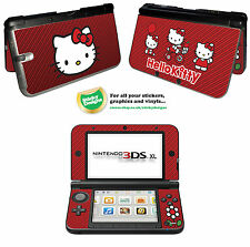 Hello Kitty Vinyl Skin Sticker for Nintendo 3DS XL - Red