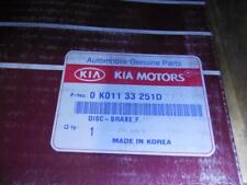 NEW OEM FACTORY KIA Sportage Front Brake Rotor Disc SHIPS TODAY 0K01133251D
