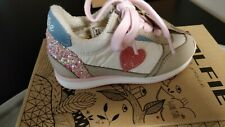 DOLFIE Sneakers Size 24,  US 7-7,5 Contrast Leather Glitter Made in Portugal