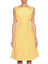 ROCHAS A-line Dress in Yellow Polka-dot Print, IT42