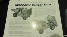 MECCANO  Set 10 Leaflet 10:9 Dumper  Truck
