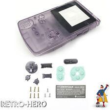 Gameboy Color Gehäuse Display Game Boy Batterie Deckel Tasten Case Shell Lila