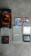Sega Game Gear Games - Mortal Kombat & Sonic The Hedgehog 2
