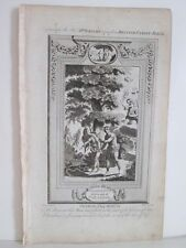 Vintage Print,ADAM+EVE,Driven out of Paradise,Wrights British Family Bible,C.180