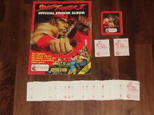 More details for street fighter ii merlin street fighter2 1992, empty album & loose sticker set &